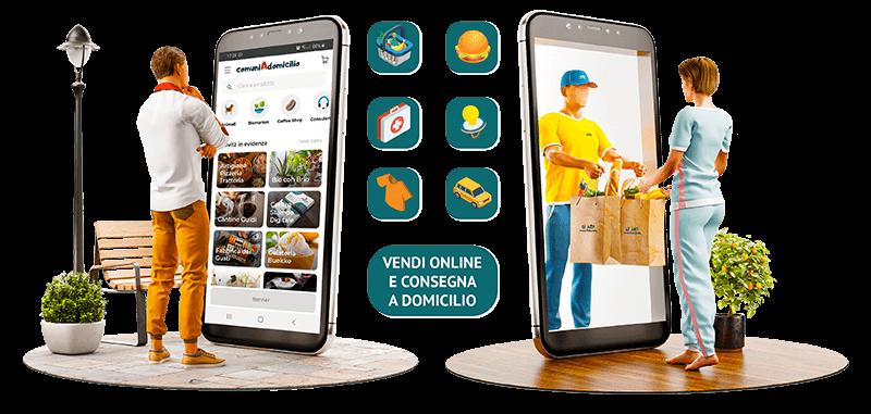 app-mobile-piattaforma-marketplace-delivery-consegne-a-domicilio-piccoli-comuni-digitali-a-domicilio-format-franchising-locale